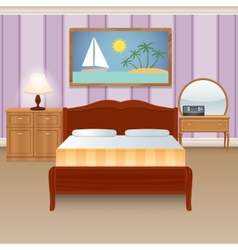 Bed Room Interior vector image