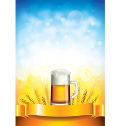 beer wheat vertical background vector image