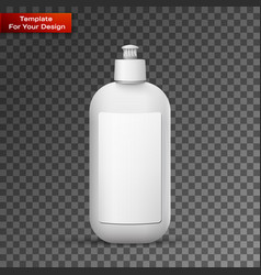 blank dish washing liquid package vector image