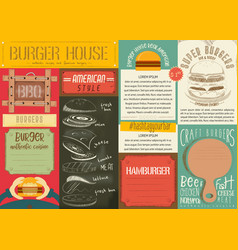Burger placemat vector