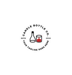 candle bottle logo design concept vector image