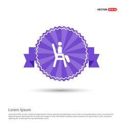 Chair icon - purple ribbon banner vector