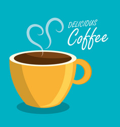 coffee beverage drink isolated vector image