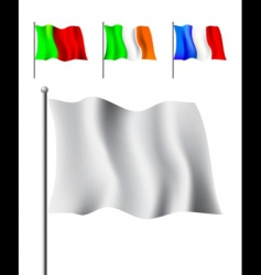 colored flags vector image vector image