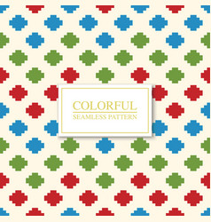 colorful seamless geometric pattern - dotted vector image