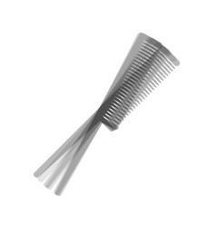 Comb sign gray icon shaked at white vector