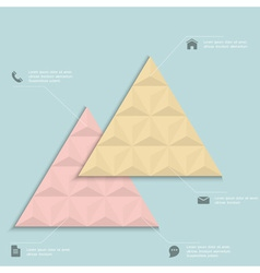 Creative design template for inforgraphics vector