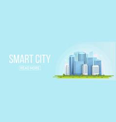 creative of smart city urban vector image