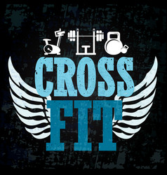Cross fit training banner vector