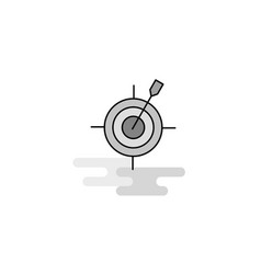 dart game web icon flat line filled gray icon vector image