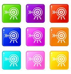 darts set 9 vector image