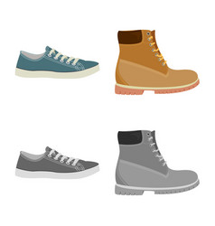 Design shoe and footwear sign vector