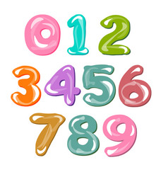 different number set vector image