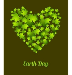 Earth Day ecology green leaves background vector