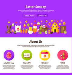 Easter sunday website design vector