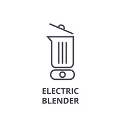 electric blender line icon outline sign linear vector image