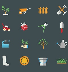 Environmental activities Gardening icons set vector