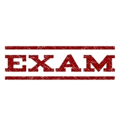 Exam watermark stamp vector