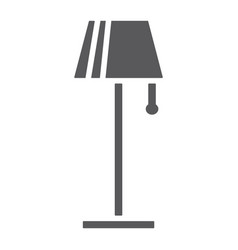 floor lamp glyph icon furniture and home light vector image