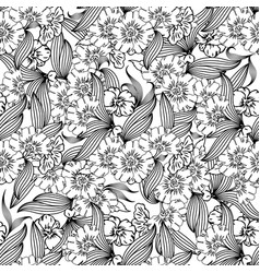 Floral seamless pattern white backgroun vector