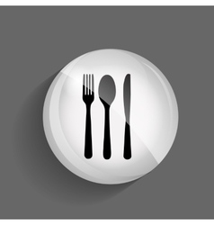 Food and Drink Glossy Icon vector image