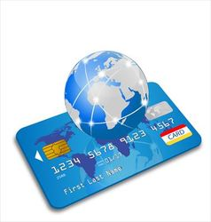Global credit card vector