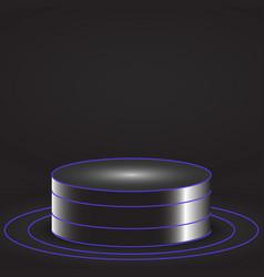 Glowing pedestal vector