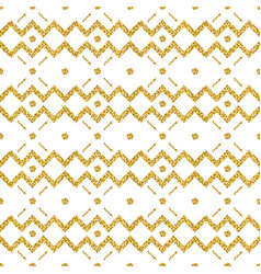 golden glittering zigzag pattern gold seamless vector image