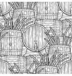 graphic barrels of beer vector image