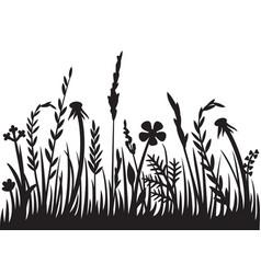 grass silhouette design vector image