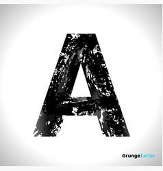 grunge letter a black font sketch style symbol vector image