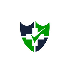 health shield insurance vector image