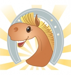 horse cartoons vector image