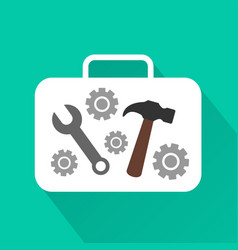 Industrial modern design flat icon with long shado vector