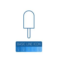 isolated sundae outline ice cream element vector image