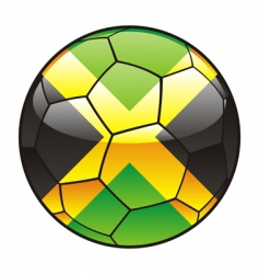 jamaica flag on soccer ball vector image