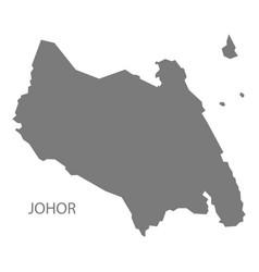 Johor malaysia map grey vector