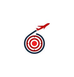 journey target logo icon design vector image