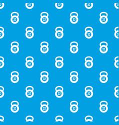 Kettlebell 32 kg pattern seamless blue vector