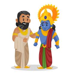 King janaka lord rama cartoon character vector