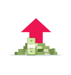 money growth flat cartoon vector image
