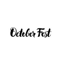 October Fest Lettering vector