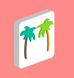 palms computer symbol vector image