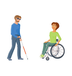 People with disabilities - woman in wheelchair vector