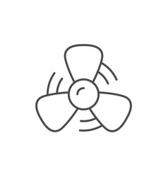 propeller in motion line outline icon vector image