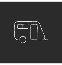 Pulling cab icon drawn in chalk vector image