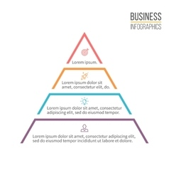 Pyramid triangle with 4 steps levels vector