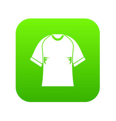 Raglan tshirt icon digital green vector