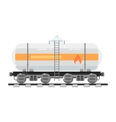 Railway tank isolated on white background vector image