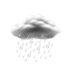 Rain icon isolated on white vector